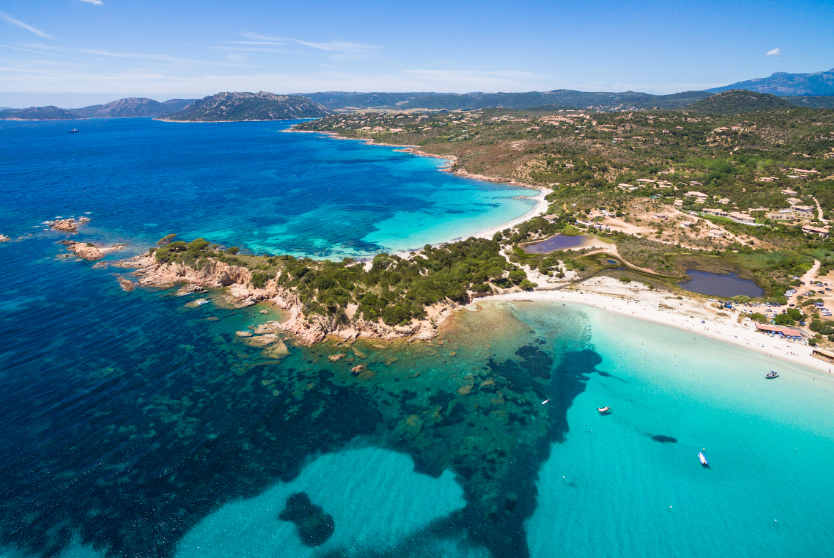 Aerial view of Palombaggia Beach
