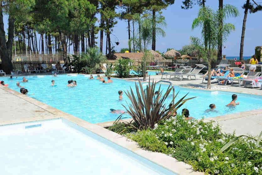 Swimming Pool at Camping Marina d'Aleria, Corsica