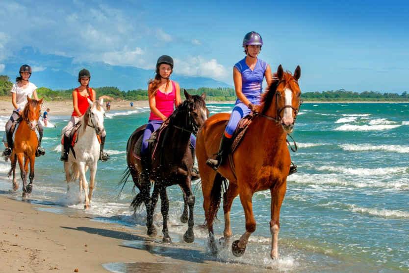 Horse riding at Campsite Domaine d'Anghione, Corsica
