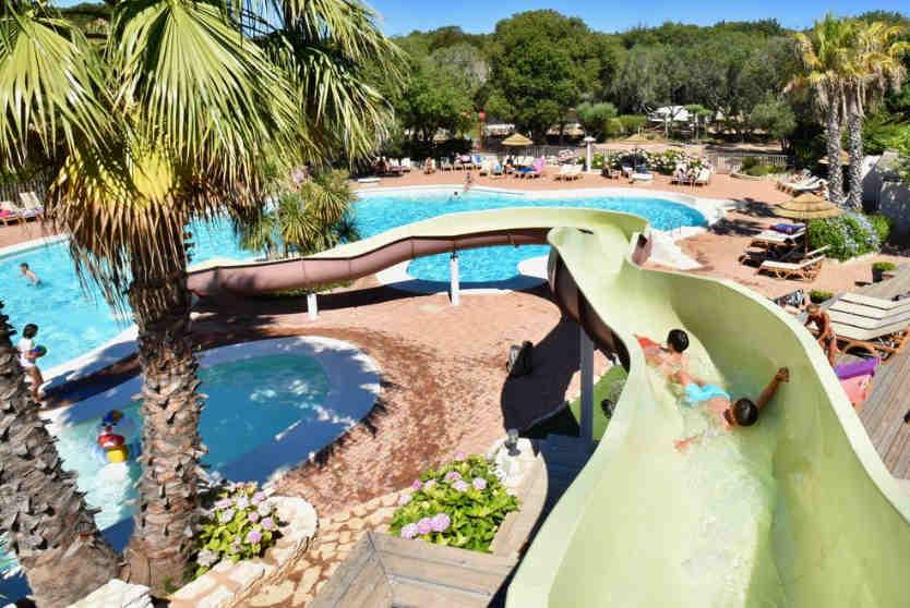 Campsite U FARNIENTE Water Parc Slide, Corsica