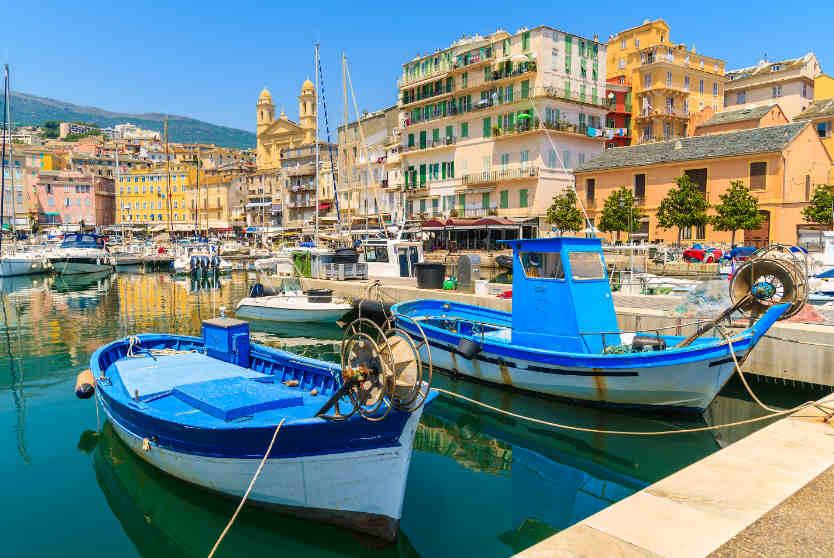 Fishing boats in Bastia Port, Corsica